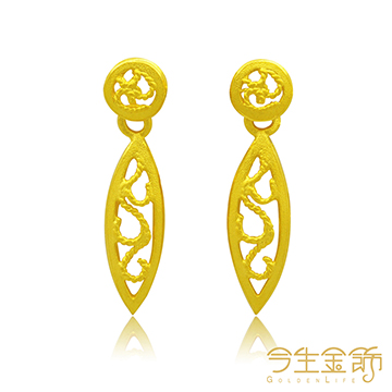 今生金飾 幸福圍繞  純黃金耳環