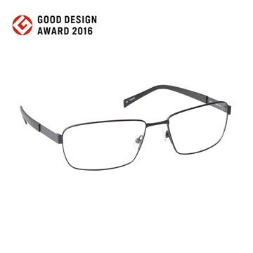nine 丹麥設計日本製作 原創9g鈦金系列光學眼鏡-黑【nine 2179 BLK】
