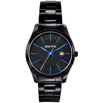 GOTO 舞台之星時尚腕錶-藍x黑