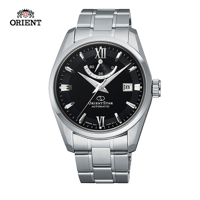 ORIENT STAR 東方之星 CLASSIC系列 經典動力儲存機械錶 鋼帶款 黑色 RE-AU0004B-39.3mm