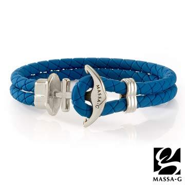 MASSA-G 絕色紀念 鍺鈦能量手環 藍