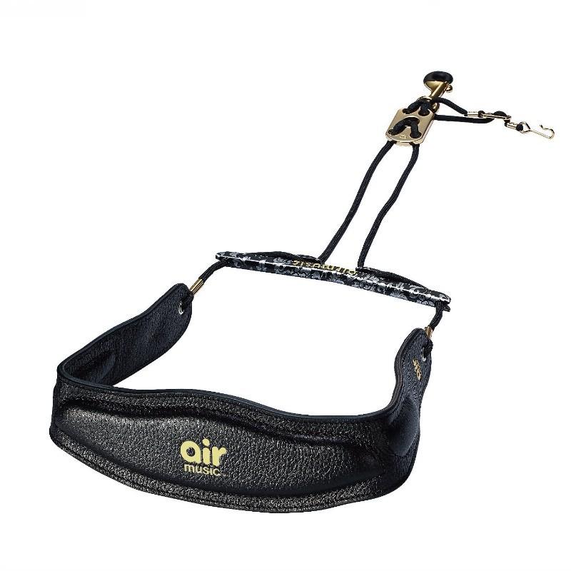 air music 薩克斯風吊帶 咖啡色 黑色 白色 sax strap 背帶 真皮 塑鋼橫桿 - 【黃石樂器】