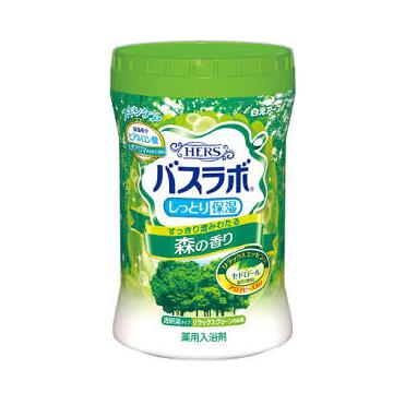 【日本 白元Earth】HERS 香氛 保濕 入浴劑 泡湯 溫泉粉 680g (森林) -共三罐