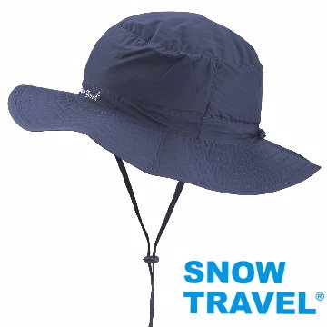 [Snow Travel]抗UV透氣快乾戶外輕量休閒帽AH-23深藍(可折疊收納)