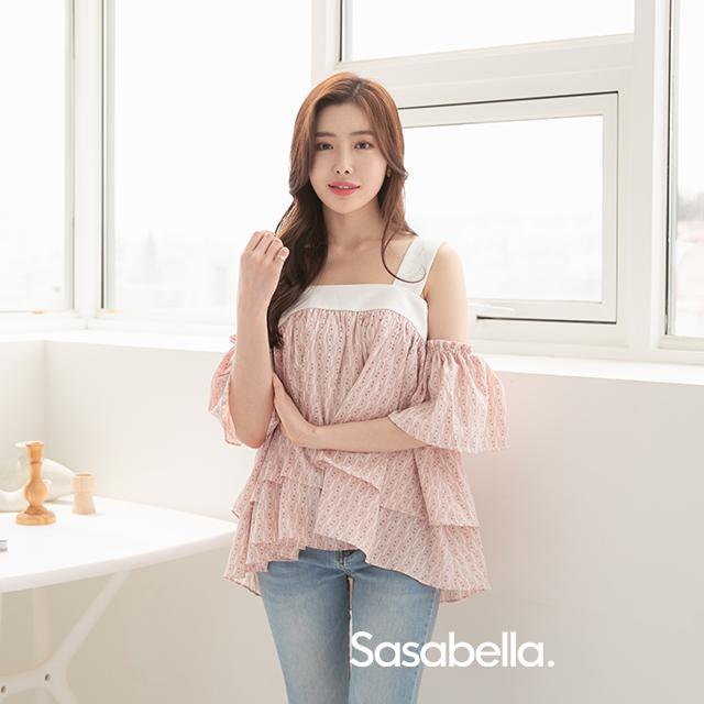 Sasa Bella 粉紅露肩上衣