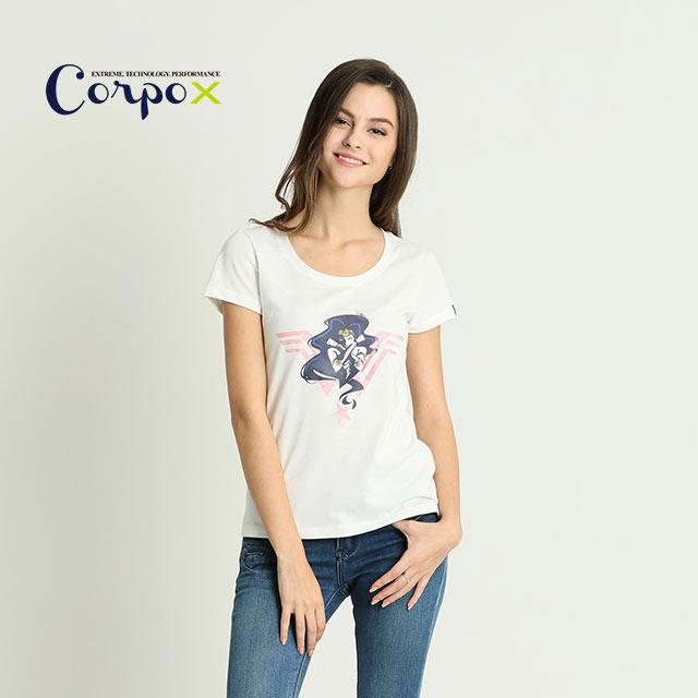 【Corpo X】女款DC聯名正義聯盟T恤-電影白