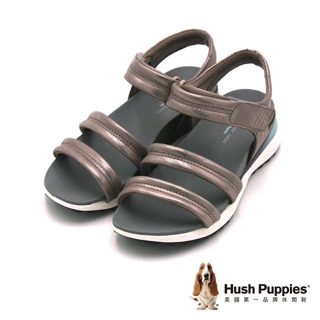 Hush Puppies IVANIA AZALEA系列 機能健走涼鞋 女鞋-銀(另有黑)