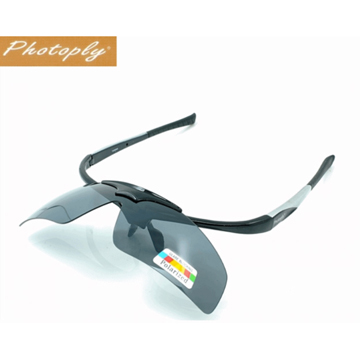 PHOTOPLY可掀式大聯盟太陽眼鏡(黑+POL偏光)