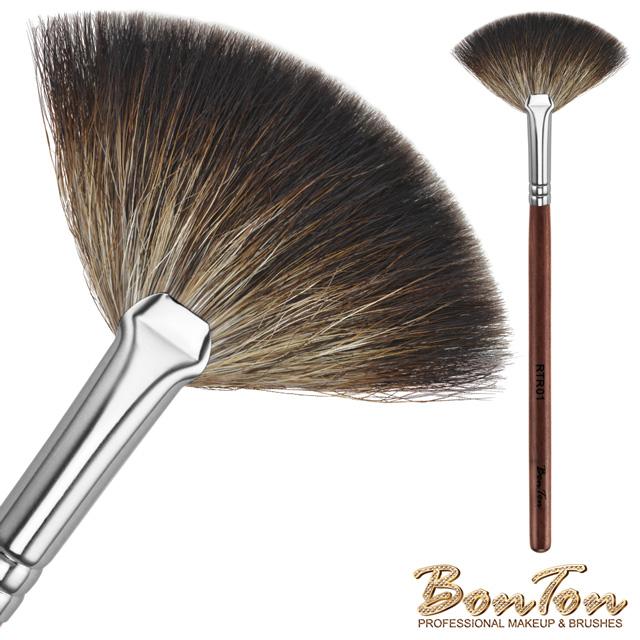 BonTon 原木系列 小扇形餘粉刷 RTR01 貉子毛