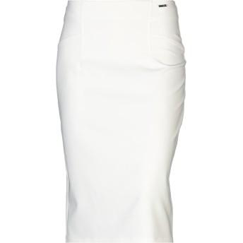 《セール開催中》GUESS レディース 7分丈スカート ホワイト M ポリエステル 88% / ポリウレタン 12%