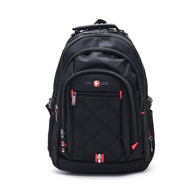 OVERLAND 美式十字軍 極致美型設計交叉菱格紋後背包 3071