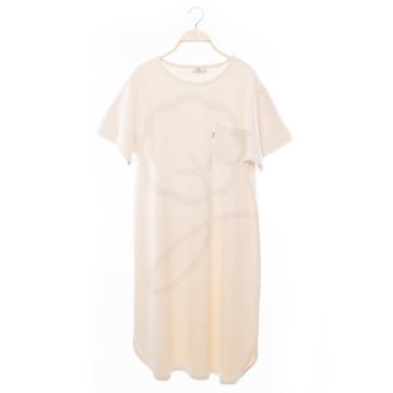 綠色棉藝【1903】無染棉長睡袍
