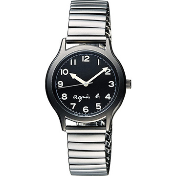 agens b. 25周年紀念復刻經典腕錶 黑x灰 34mm BH8018X1