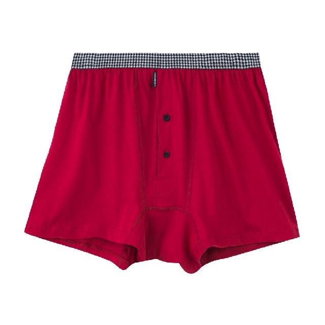 【棉花共和國】五片式針織寬口褲-酒紅