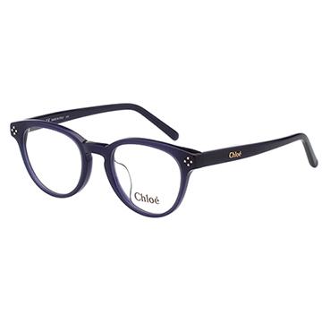 CHLOE 復古圓框光學眼鏡 藍色 CE2680A-424