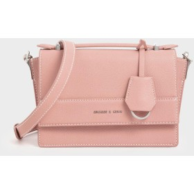 フロントフラップ トップハンドルバッグ / Front Flap Top Handle Bag (Pink)