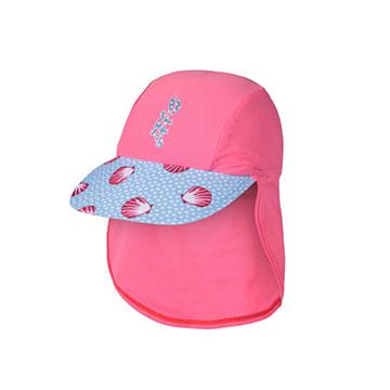 澳洲鴨嘴獸兒童泳衣 遮頸防曬帽 1 歲 海貝殼系列 UPF 50+ 抗UV