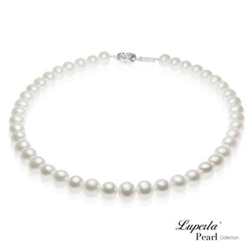 【大東山珠寶】女王級天然淡水珍珠項鍊(白)