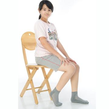 【KEROPPA】可諾帕7~12歲學童專用毛巾底氣墊短襪x4雙C93003灰色