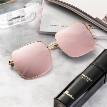 【AIMI】抗UV400太陽眼鏡 6237-金框反光鏡片