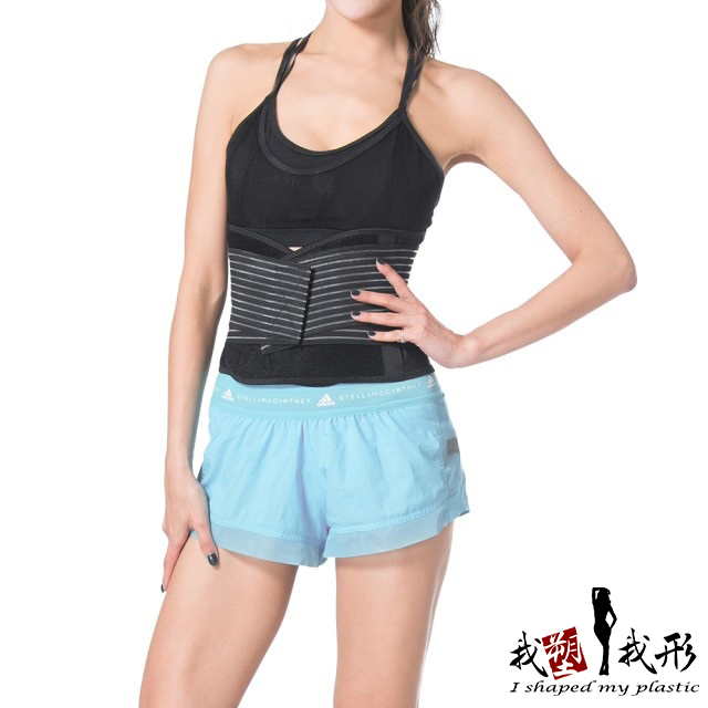 【我塑我形】黑網透氣美體護腰帶(ㄧ件組)