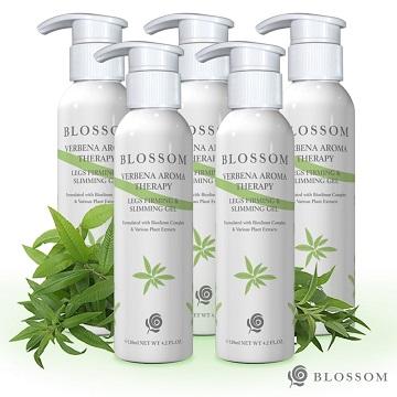 【BLOSSOM】檸檬馬鞭草植萃曲線緊緻美腿凝霜(120ML/瓶)(第二代美腿升級版)X5件組
