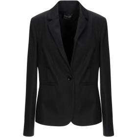《セール開催中》ATOS LOMBARDINI レディース テーラードジャケット ブラック 48 コットン 98% / ポリウレタン 2%