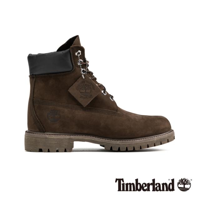 Timberland 男款中棕色磨砂革經典6吋靴