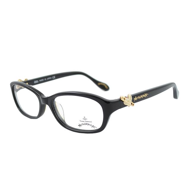 【Vivienne Westwood】英國Anglomania●立體土星別針奇想光學眼鏡(黑) AN259-01