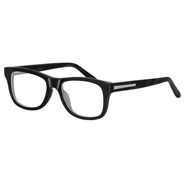 GIVENCHY 魅力紀梵希都會玩酷潮框平光眼鏡(木質黑) GIVGV7530700