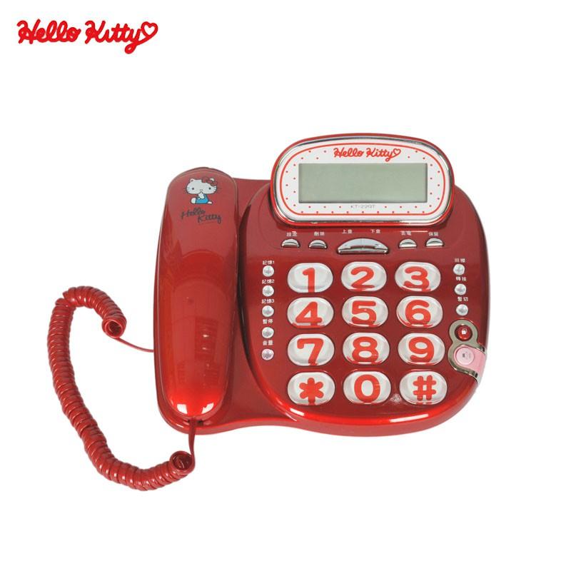 HELLO KITTY 有線電話機 KT-229T 顏色隨機 福利品