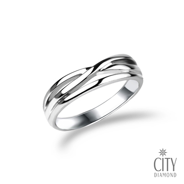 City Diamond引雅『編織愛』戒指(男)L00441