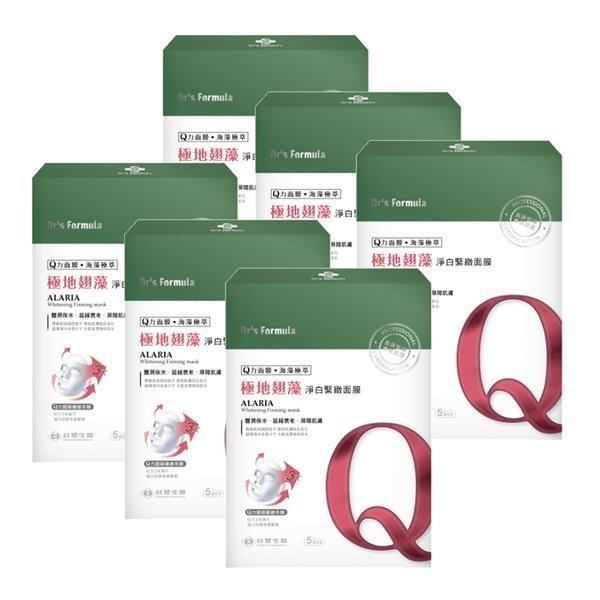 《台塑生醫》Dr's Formula極地翅藻淨白緊緻面膜(5片裝)*6盒入