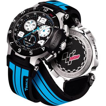 TISSOT 天梭 T-Race MotoGP 專業限量賽車計時腕錶 黑x藍 45mm T0484172720700