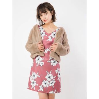 ワンピース - CECIL McBEE エッジング花柄ワンピース