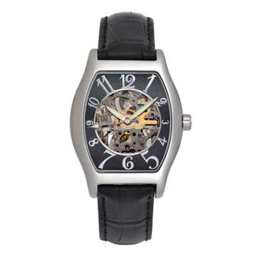 FLUNGO 佛朗明哥時尚先鋒酒桶機械腕錶(黑)