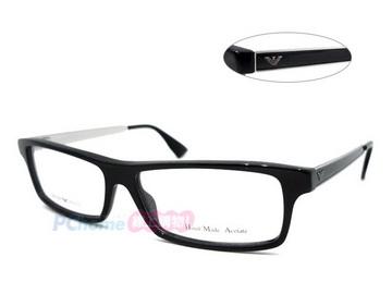 EMPORIO ARMANI 亞曼尼 時尚複合設計光學眼鏡 EA9735  AQD