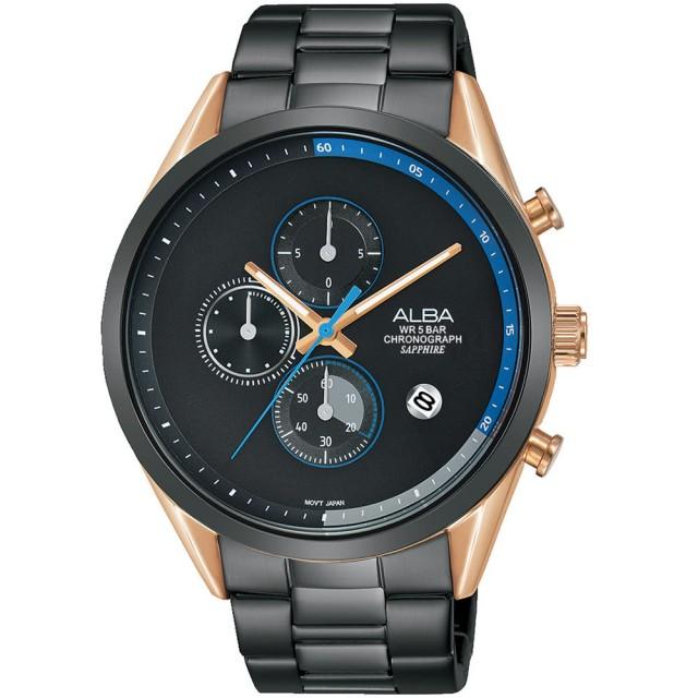 ALBA 雅柏 Tokyo Design 情人限定原創計時手錶 AM3594X1 44mm