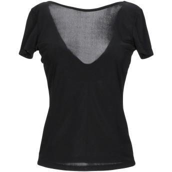《セール開催中》MICHELA MII レディース T シャツ ブラック S/M ポリエステル 95% / ポリウレタン 5%