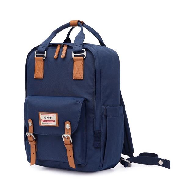 Heine WIN-191大學生書包 後背包 休閒包 - 藏藍色