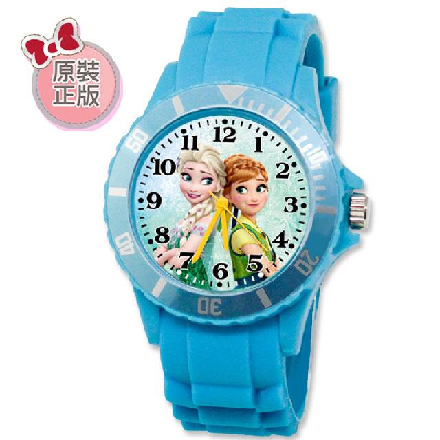 迪士尼 冰雪奇緣 運動彩帶兒童手錶