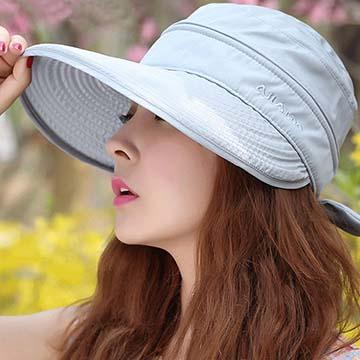 【時尚戶外出遊防曬可摺疊兩用遮陽帽】
