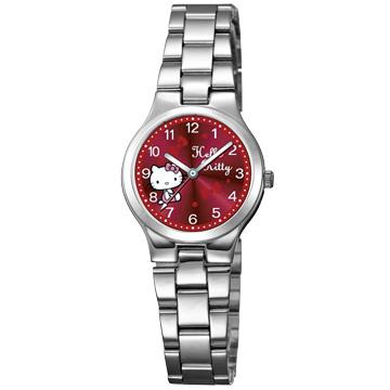 HELLO KITTY 典雅俏麗時尚腕錶-KT602LWRA