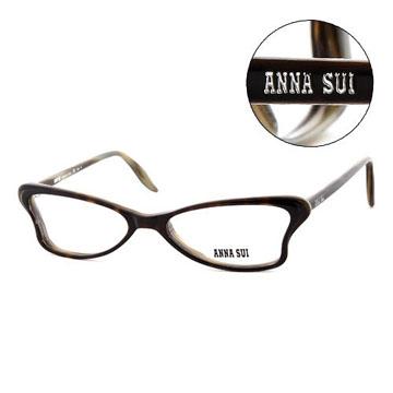 Anna Sui 日本安娜蘇 魔幻時尚經典蝴蝶造型平光眼鏡(橄欖綠) AS03604