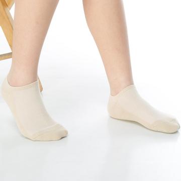 【KEROPPA】可諾帕細針毛巾底氣墊船型學生襪x4雙(男女適用)C91001-卡其