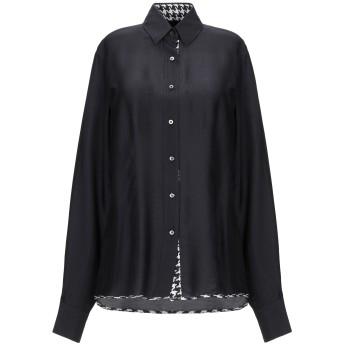 《セール開催中》XACUS レディース シャツ ブラック 42 レーヨン 84% / シルク 16%