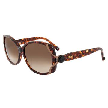 ANNA SUI 安娜蘇 時尚經典玫瑰造型太陽眼鏡(琥珀) AS845C167