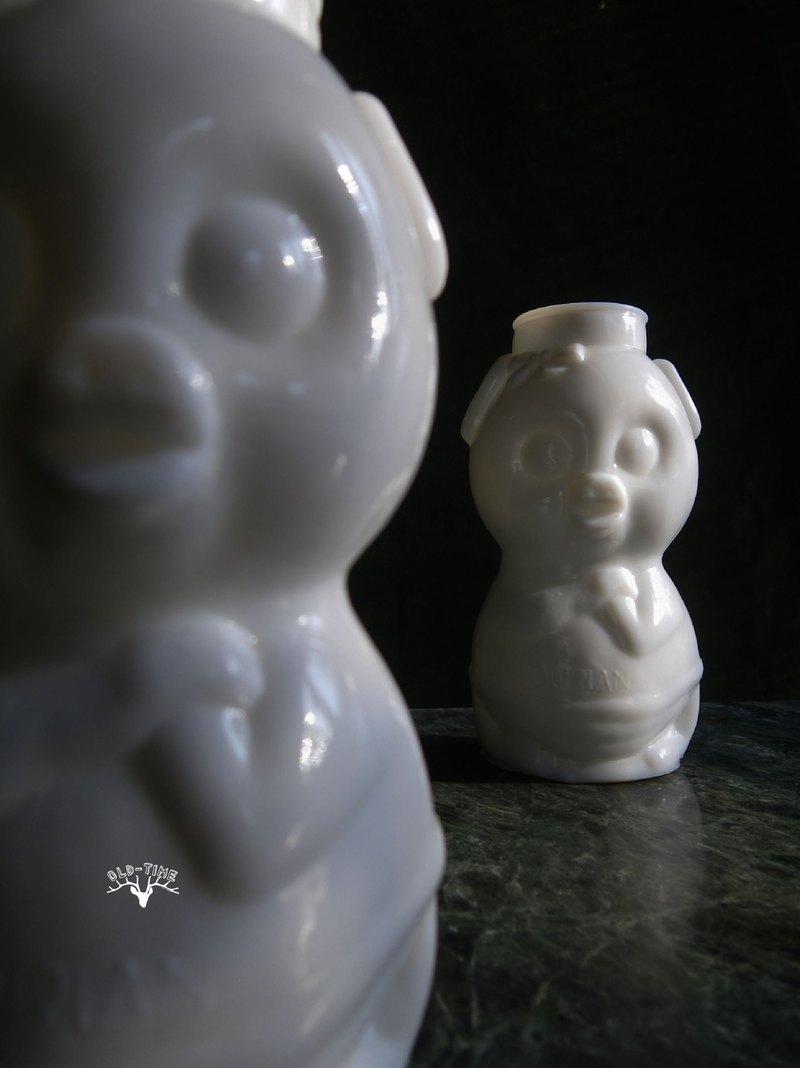 【老時光 OLD-TIME】早期台灣製牛奶玻璃花瓶