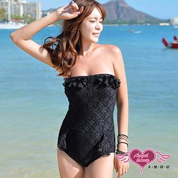【天使霓裳】簡約魅力 一件式連身泳衣(黑)