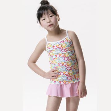 【SAIN SOU】SPA/泡湯專用女童兩件式泳裝附泳帽A82213